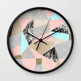 Geo Lights Wall Clock