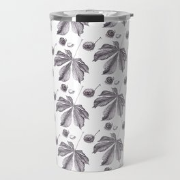 Floral pattern horse-chestnut Travel Mug