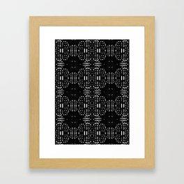 Black and white Vintage Framed Art Print