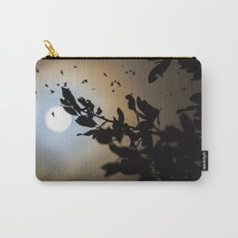 Bats in a Full Moon on Halloween Carry-All Pouch
