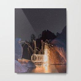 Spinning Metal Print