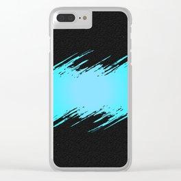 Frozen Flash on Concrete Clear iPhone Case