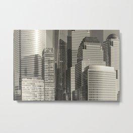 """Urban Angles #1 in Gold"" by Murray Bolesta Metal Print"