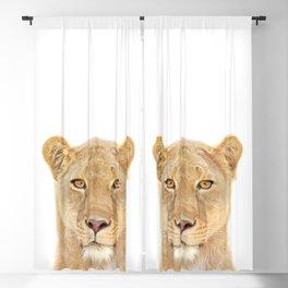 Lioness Art Print by Zouzounio Art Blackout Curtain
