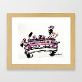 Designated Flamingo Framed Art Print