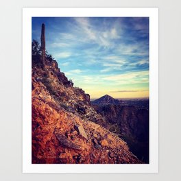 From One Mountain to the Next Art Print