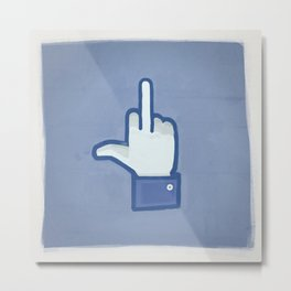 Fuck social media ! Metal Print