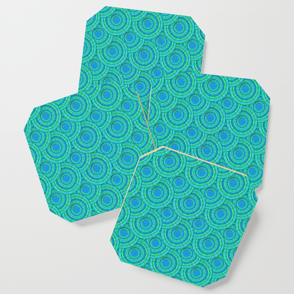 Teal Parasols Pattern Coasters by petergross (S6C3164250) photo
