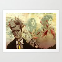 david lynch Art Prints featuring Lynch by Davel F. Hamue