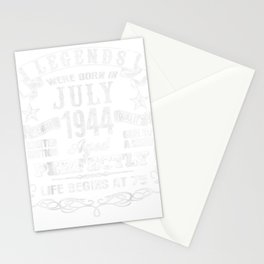 Legends Were Born In July 1944 T-Shirt, 75th Birthday Gift Stationery Cards