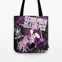 scorpio Tote Bags featuring SCORPIO by Chandelina
