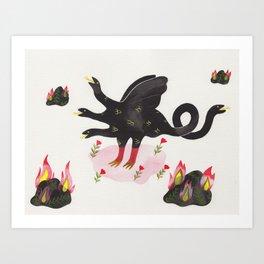 Chimera & Fire Rocks Art Print