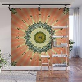 Kiwi and Peaches Mandala Wall Mural