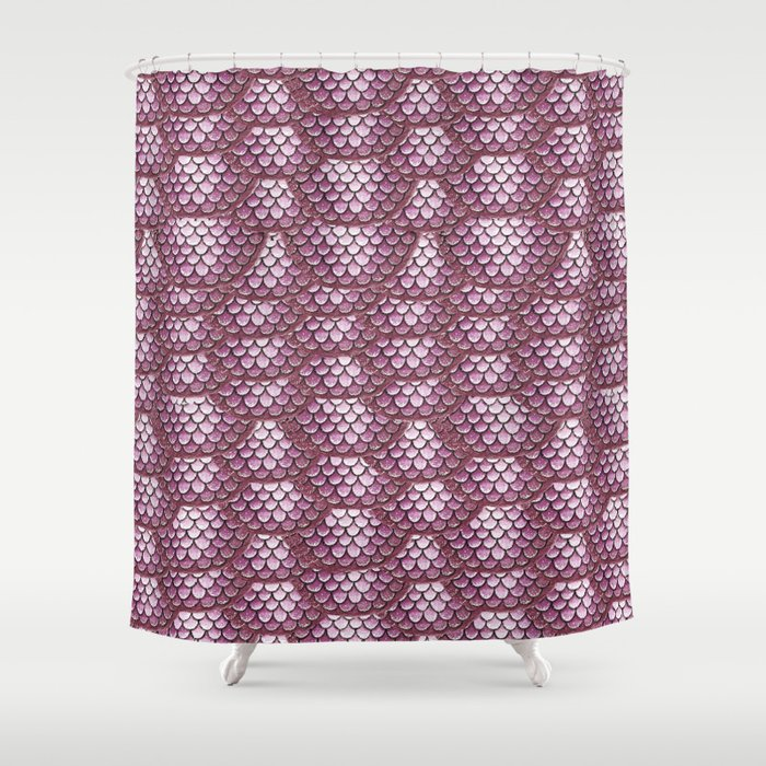 Dusty Rose Snake Skin Pattern Shower Curtain
