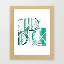 Deco D Framed Art Print