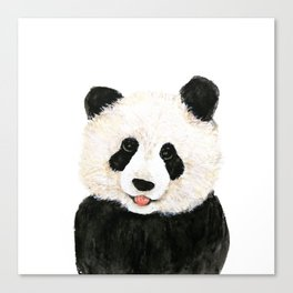 naughty little panda Canvas Print