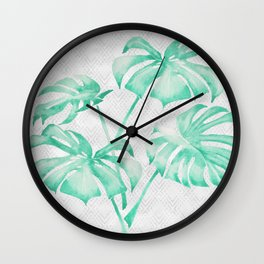 city leaf Wall Clock