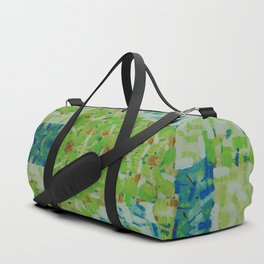 Abstract anarchism green pattern Duffle Bag