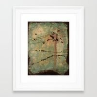 the wire Framed Art Prints featuring Wire by Carmen McCormick