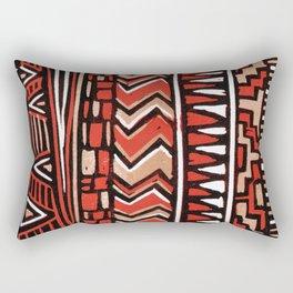 Aztec lino print Rectangular Pillow
