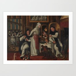 KITCHEN IN A CONVENT Art Print