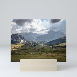 Picture of the Seceda III | A journey through the Dolomites, Italy Mini Art Print