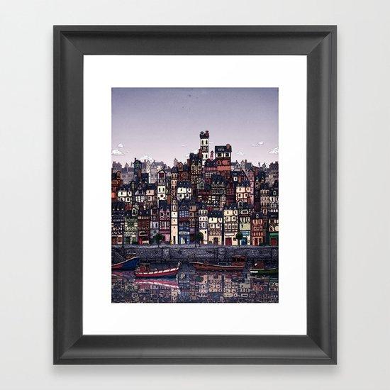 Fishing Village Framed Art Print