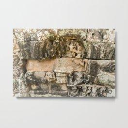 Mismatched Repairs, Bayon Temple, Angkor Thom, Cambodia Metal Print