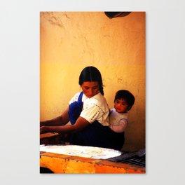 Chamula Woman and Child Canvas Print
