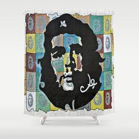 che Shower Curtains featuring Everywhere a Che, Che by Ethna Gillespie