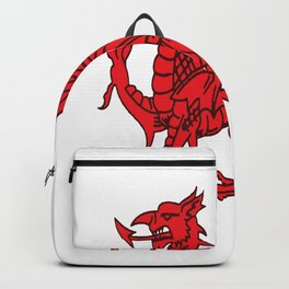 The Red Dragon or Y Ddraig Goch Isolated Backpack