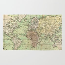 Vintage Map of The World (1778) Rug