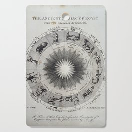 The Ancient Zodiac of Egypt with the original Asterisms Cutting Board