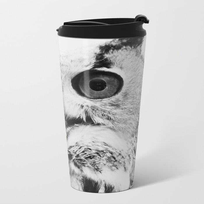 Scandinavian owl Metal Travel Mug