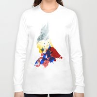 nordic Long Sleeve T-shirts featuring Nordic Star by Arian Noveir