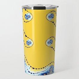 Fractal Cleavage Yellow Travel Mug