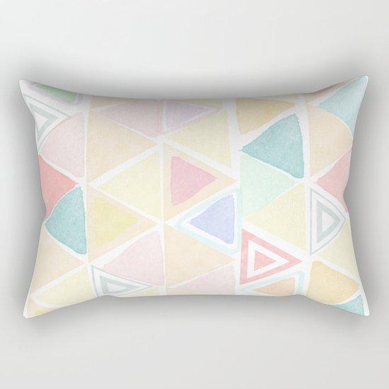 Triangle watercolor fantasy Rectangular Pillow