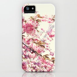 Cherry blossoms world iPhone Case