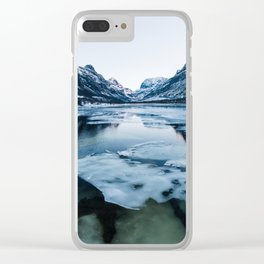 Icy Innerdalen Valley in Norway Clear iPhone Case