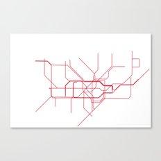London Tube Canvas Print