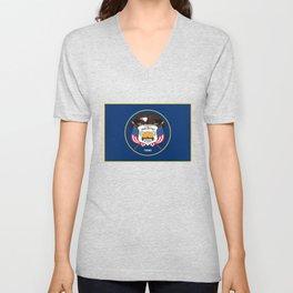 Utah State Flag - Authentic Version Unisex V-Neck