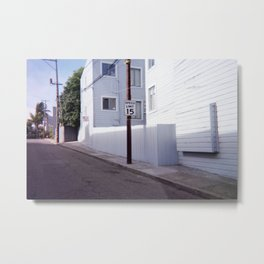 Speed Limit Sign on an Empty San Francisco Street Metal Print