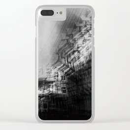 city in monochrome Clear iPhone Case