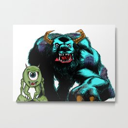 Mike & Sully... Metal Print