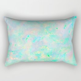 Light Blue Opal Rectangular Pillow