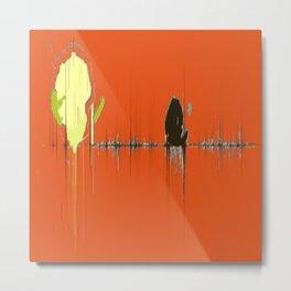 Abstracts Tango Bold Pattern Modern Art - Corbin Henry Metal Print