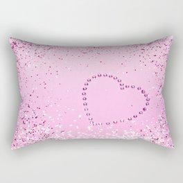 Sparkling UNICORN Girls Glitter Heart #1 #decor #art #society6 Rectangular Pillow