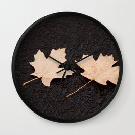 Maple Leaves Photography Print Wall Clock