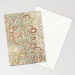 River Cartography Stationery Cards