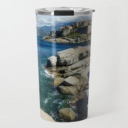 Flowers on the rocks Travel Mug